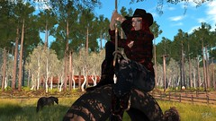 Swing (Drau Seaseeker) Tags: life horse country tire swing secondlife western second cowgirl
