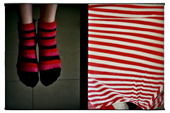 Half-frames in between (Lieven Symaeys) Tags: red film feet analog vintage model diptych shoot fuji stripes vintagecamera analogue argentique stripy analgico fuji400 olympuspenees2 colorfilm analoog analogico annata anlogo analogincameradiptych
