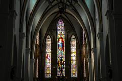 Interior of St. Joseph's Cathedral, Hanoi, Vietnam (inchiki tour) Tags: travel church window architecture photo asia southeastasia arch cathedral interior vietnam hanoi   staindglass   stjosephscathedral  hni