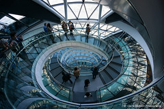 (Claire Hutton) Tags: city uk people building london architecture spiral mayor cityhall helmet fisheye staircase openhouse circular gla greaterlondonauthority 2015 normalfoster samyang8mm sonya6000
