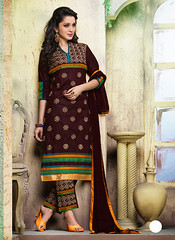 Chocolate Cotton Straight Cut Salwar Kameez (nikvikonline) Tags: uk wedding usa brown canada color fashion festival work women designer australia wear fancy online frock weddingdress desinger kameez shalwar anarkali womenswear dailywear freeship freeshipping womenclothing fashiondress designerwear womenfashion weddingwear designersuit designercollection onlinewomens anarkalisuitsdesigns onlinekameez achkanstyle kamizonline brownsalwar brownkamiz brownkamizsalwar
