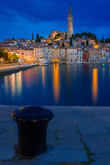 Rovinj, Istria, Croatia (florian.diebold) Tags: santa longexposure blue skyline architecture croatia hour baroque rovinj renaissance barock neoclassicism istria eufemia