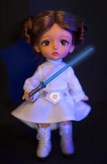 Princess Leia (PumaNoire) Tags: yellow star princess tan lea wars leia latidoll lati