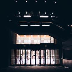 Entry (Olly Denton) Tags: uk london art apple glass architecture canon lights design mac doors entrance pedestrian barbican walker ios barbicancentre 400d vsco vscocam vscolondon