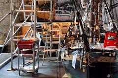 Museu Martim de Barcelona (Jorge Franganillo) Tags: barcelona espaa museum boat spain museu vessel maritime catalunya museo catalua martimo restauracin drassanes martim museumartimdebarcelona