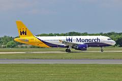 "G-ZBAT Airbus A.320-214 Monarch Airlines MAN 03-06-16 (PlanecrazyUK) Tags: egcc manchester man ringway ""manchester airport"" gzbat airbusa320214 monarchairlines 030616"