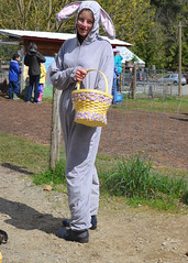 Easter Bunny at Tiger Lily Farm (Parksville Qualicum Beach) Tags: canada bunny easter bc basket farm vancouverisland eggs easterbunny errington tigerlilyfarm