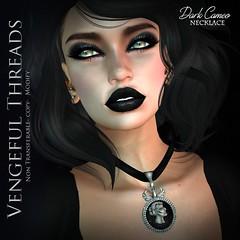 Vengeful Threads - Dark Cameo_necklace (Vixn Dagger - Vengeful Threads) Tags: black history necklace mesh historian gothic goth victorian cameo genre originalmesh vengefulthreads