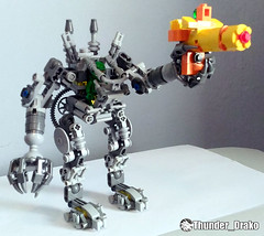 Exo-Suit Gun MOC (Lego set 21109) (Thunder_Drako) Tags: lego moc exosuit exo suit 21109 own creation gun sword classic space
