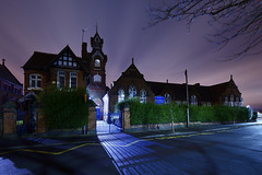 Beeches Road School, West Bromwich 20/02/2016 (Gary S. Crutchley) Tags: road park street uk travel school england urban black west heritage history st night dark ed evening town george nikon long exposure king raw slow nightscape shot nightshot image time britain united country great kingdom s philips v shutter after local nightphoto af nikkor townscape staffordshire dartmouth westmidlands rd midlands a41 d800 beeches blackcountry staffs bromwich 1635mm nightimage sandwell nightphotograph f40g