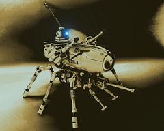 Banisher RX (SuperHardcoreDave) Tags: war lego walker weapon future scifi mecha edit mech alternate moc drone