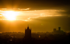 Flare Goodness - Sunset - 5/23/16 (ep_jhu) Tags: sunset sky sun sol church clouds canon dc washington cloudy steeple nubes 7d puesta nationalcathedral
