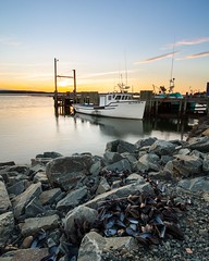 Three Fathom Fishing (J_Longmire) Tags: sunset seascape canada pier fishing novascotia harbour wharf lobster mussels eastcoast haligonia jlongmirephotography
