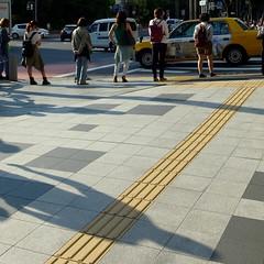 shadow (akhr1961) Tags: women crossing yellowline gr4