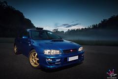 Subaru Impreza WRX Type RA STi Limited (M-Gruppe.net) Tags: blue fog night canon photography gold flash front 7d subaru type hood rims ra tuning limited impreza wrx sti 1022mm scoop rallye wr boost strobes gc8
