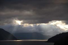 Kveldssolstrler -|- Evening Sunrays (erlingsi) Tags: solstrler sunrays voldsfjorden sunnmre kveld evening sky clouds rays strler fjorden fjord norway