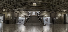 CHICAGO CULTURAL CENTER (Jovan Jimenez) Tags: cultural center entrance hdr tokina atx 116 pro dx ii 1116mm f28 canon 70d dslr architexture chicago pano panorama wide angle fisheye fish eye panoramic symmetry stairs stairway adobe creative cloud interior design indoor indoors