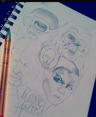 Unfinished Mad Max (ZZFX) Tags: detail art film pencil dark painting paper weird sketch scary paint artist drawing vampire zombie character horror create concept spawn fx darkart spfx zzfx