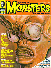 Famous Monsters #54 (1969), Invasion of the Saucer Men cover by Ron Cobb (Tom Simpson) Tags: 1969 illustration vintage alien cover 1960s famousmonsters roncobb invasionofthesaucermen