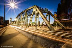 Hawthorne Bridge, Portland, OR (saurabh.bhavsar) Tags: bridge blue light architecture portland long exposure cityscape nightscape trails engineering historic civil hour hawthorne pnw starburst truss