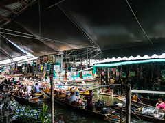 Boats to sell food (rflexit) Tags: travel thailand asia market floating saduak damnoen