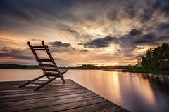 take a seat (derultrazauberer) Tags: longexposure sunset lake tree canon reflections landscape wasser sonnenuntergang sweden urlaub schweden tripod nd nik landschaft sonne lightroom langzeitbelichtung stativ colorefex enfuse canon6d canon1635lf4isusm