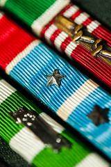 Macro Mondays - Stripes (flat6s) Tags: macro lens 50mm uniform minolta bokeh stripes korea depthoffield vietnam ribbon veteran usarmy lensadapter fotodiox macromondays sonya700