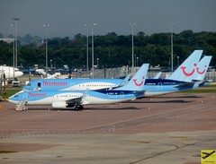 Thomson Airways B737-8K5 and B767-304ER G-OBYH parked at MAN/EGCC (AviationEagle32) Tags: uk man tarmac plane airplane manchester flying airport cheshire unitedkingdom aircraft aviation airplanes flight aeroplane apron thomson planes vehicle parked boeing avp aeroplanes tui manchesterairport winglets b737 planespotting boeing767 b767 boeing737 egcc b737800 b767300er b767300 b738 tuigroup avgeek aviationphotography b7378k5 b737ng tuitravel b738w b737w gobyh manchesteravp thomsonairways tuiairlines b767304er runwayvisitorpark aviationgeek gtawn aviationlovers flickraviation manchesterairportt1 manchesterairportatc manchesterairportt2 manchesterairportt3 tuiairlinesuk