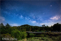 The Milky Way and Moonlight (Mimi Ditchie) Tags: road bridge night stars astrophotography moonlight nightsky countryroad starrynight milkyway easternsanluisobispocounty laspilitasroad