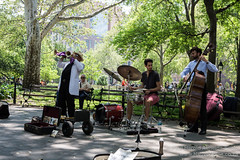 Buskers in Washington Square Park, New York