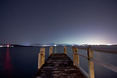 Lake Illawarra (PhilliB123) Tags: city sky lake night canon lights coast jetty south tokina nsw wollongong t3i illawarra 600d 1116mm
