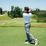A PGA professional golf management student at Lonnie Poole Golf Course.