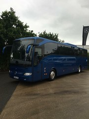 The new addition... After months of delays and being given demos from Mercedes, our new tourismo has arrived, without livery as we needed to use the coach straight away. (khurumbutt) Tags: mercedes tourismo astonmanorcoaches mb16amc