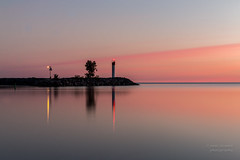 Red sky in morn... (paulstewart991) Tags: canon70d canadian meaford harbour georgianbay greycounty sunrise longexposure water lighthouse