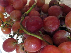 A Bunch Of Grapes. (dccradio) Tags: red fruit nc branch vine northcarolina grapes bunch bunches grape lumberton robesoncounty