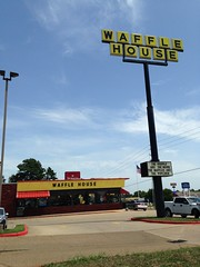 Waffle House, Texarkana TX (Deep Fried Kudzu) Tags: house sign hilarious texas waffle texarkana