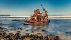 The Speke Shipwreck  DSC_3596 (BlueberryAsh) Tags: ocean longexposure beach water coast nikon shipwreck phillipisland westernportbay 10stopndfilter australianseascape ssspeke kittymillerbay rustremains nikond750