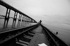 Lines..... (Karthikeyan.chinna) Tags: karthikeyan chinna chinnathamby canon canon5d travel mono black white bw blackandwhite rameswaram pamban bridge heritage india history sea ocean south tamilnadu cwc chennaiweekendclickers monochrome