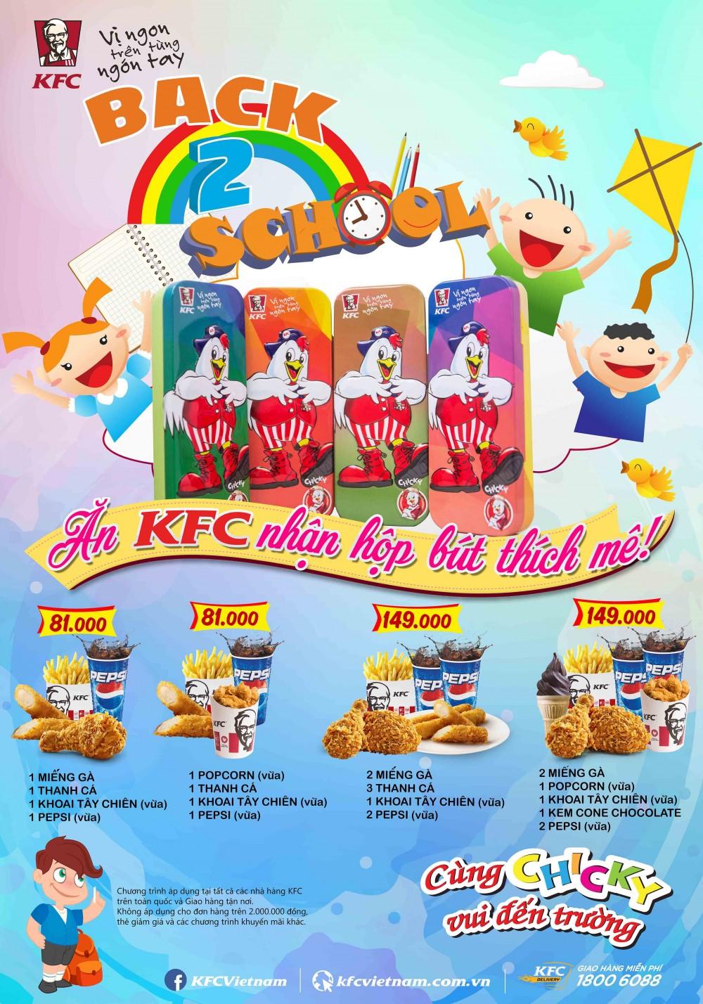 Ăn KFC nhận hộp bút thích mê!!!