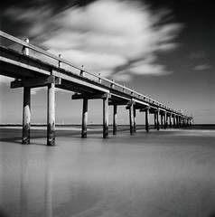 Ljunghusen (Karl Johan) Tags: sea sky blackandwhite bw 120 6x6 film water monochrome clouds analog mediumformat blackwhite skne movement nikon long exposure sweden outdoor jetty ishootfilm hasselblad filter epson mf sverige v600 50 expired ilford cf movements 504 hllviken falsterbo ilfordpanf asa50 fle distagon panf xtol 500cm hasselblad500cm ljunghusen iso50 oceon r60 classicblackwhite nd106 nikonr60 6stop bwnd106 distagon504fle epsonv600 bwfp