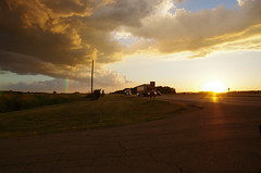 US 30 (ramseybuckeye) Tags: life county sunset ohio art 30 clouds rural us highway allen pentax country farmland trucks