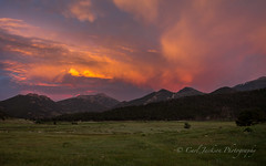 Sunset in the Rockies (cbjphoto) Tags: park sunset mountain clouds landscape photography colorado dusk scenic meadow rocky national carljackson