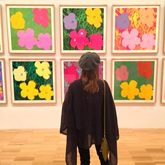 """i think having land and not ruining it is the most beautiful art that anybody could ever want to own."" andy warhol (idontkaren) Tags: show flowers art museum australia melbourne exhibit exhibition galleries andywarhol ngv 2016 nationalgalleryofvictoria aiweiwei"