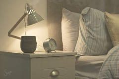 Night night (sonia.sanre) Tags: night bed room bedroom goodnight alarm pillow cama brown lamp light sweet