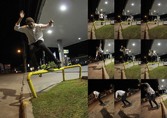 Nollie F/S Lipslide (AgustnCarrillo) Tags: patagonia fish eye blanco argentina night frames skateboarding slide skate skateboard lip agustin carrillo gaston frontside chubut argentino trelew 10mm nollie lipslide secuence