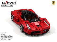 Ferrari LaFerrari 2013 (lego911) Tags: ferrari laferrari 2013 geneva geneve berlinetta coupe hypercar supercar sportscar v12 hybrid kers auto car moc model miniland lego lego911 ldd render cad povray italy italian 2010s foitsop