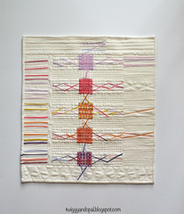 Raw I (Jayne ~ Twiggy & Opal) Tags: quilt weaving wallhanging improvquilting rawedgeweaving