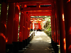 (-Michik-) Tags: road red mountain mountains japan temple japanese inari   shinto   jinja fushimi