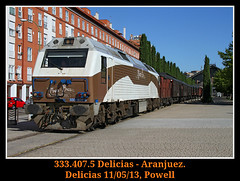 Iniciando la temporada 2013 (Powell 333) Tags: madrid espaa costa train canon tren trenes eos spain rail railway trains 7d powell museo 407 333 prima railways delicias jota ferrocarril renfe costas fresa museodelferrocarril emd ffcc operadora 3334 arganzuela jotas trendelafresa 333407 preservada renfeoperadora eos7d canoneos7d integria preservado trenfresa museodedelicias museodelicias renfeintegria