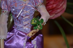 Rapunzel Doll and Pascal (Aurelmistinguette) Tags: doll mother disney collection pascal rider et rapunzel maximus flynn mre poupe eugne fitzherbert gothel raiponce aurelmistinguette
